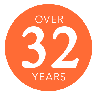 Over thirty two years logo | Shelley Carpets