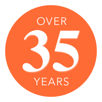 Over thirtys logo five year | Shelley Carpets
