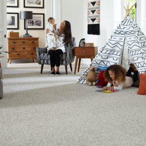 Family on Carpet floor | Shelley Carpets