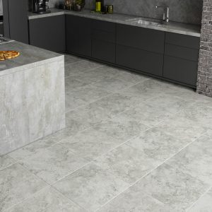 Grey Tile flooring | Shelley Carpets