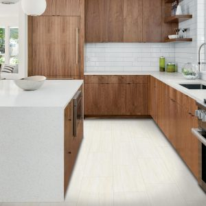 White tiles in kitchen | Shelley Carpets