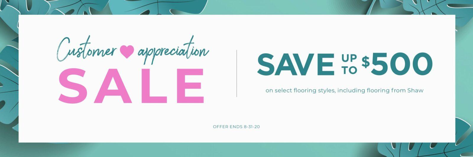 Customer Appreciation Sale | Shelley Carpets